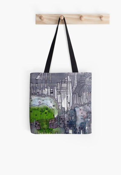 grey days tote bag