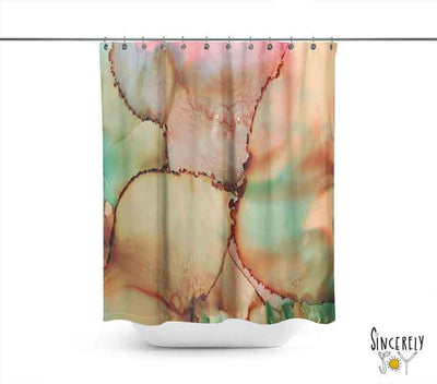 Abstract Shower Curtain 'Abstract Kiss'