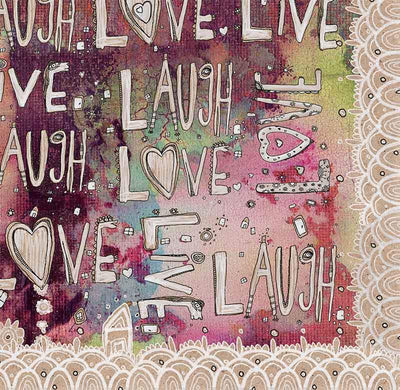 laugh love live abstract blanket
