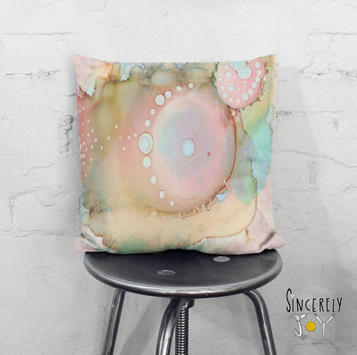 Abstract Throw Pillow 'Organic in Pastel'