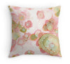 pink abstract throw pillow