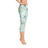 Abstract Capri leggings, Workout Pants 'Surreal Sky'