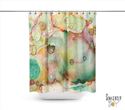 Abstract Shower Curtain 'Moose'