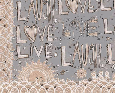 laugh love live grey soft fleece  blanket