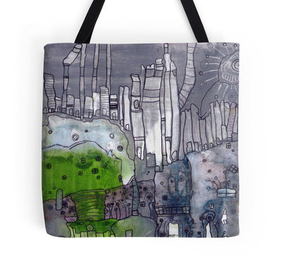 grey days tote bag b