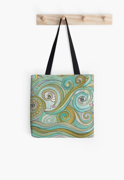 honey-dew-ocean-green-tote-bag