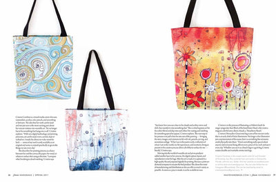Tote bag 'Garden Party' featured in Haute Handbags