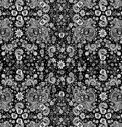 black and white-floral-shower-curtain-1