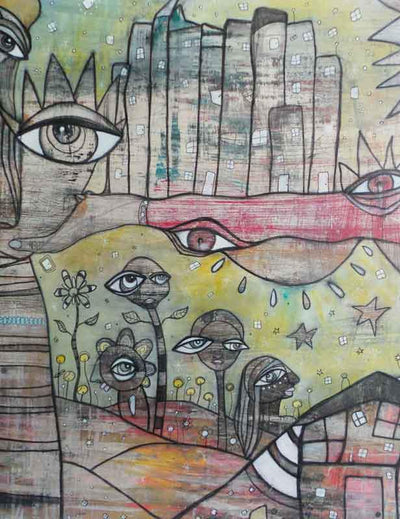 my-sun-and-stars-mixed-media-art