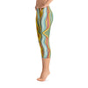 Abstract Capri leggings, Workout Pants 'Striped'