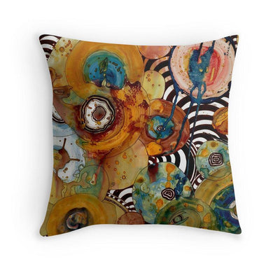 Abstract Throw Pillow 'Energy Abstract'