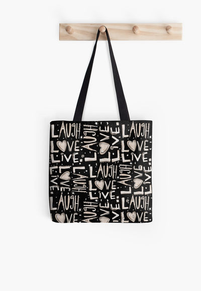 lll-blk-totelaugh love live tote bag