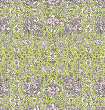 green-pink-hand-drawn-floral-shower-curtains