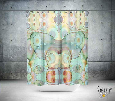 Abstract Shower Curtain 'Mermaid Tail'