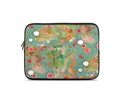 'Feathers, Flowers, Showers' Laptop/Tablet Sleeve
