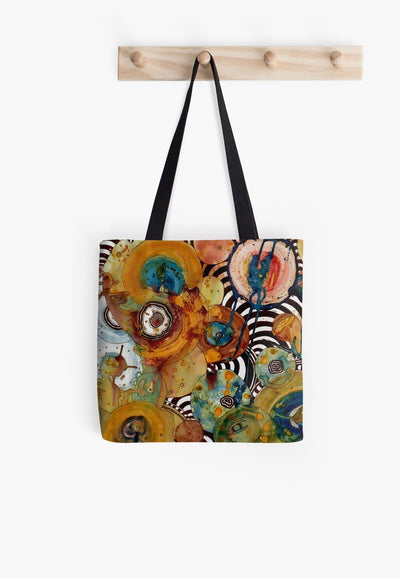energy abstract tote bag.