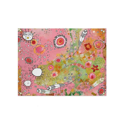 Wall Art Tapestry 'Pink Feathers, Flowers, Showers'