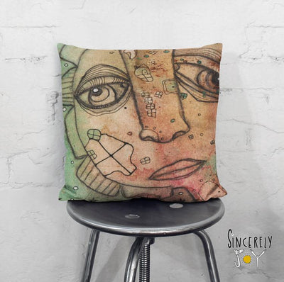 Art Throw Pillow 'Hi'