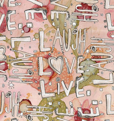 Tapestry 'Laugh Love Live' floral