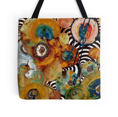 energy abstract tote bag b