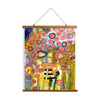 "Whimsical Wood Slat Tapestry ""Bugged Out"""