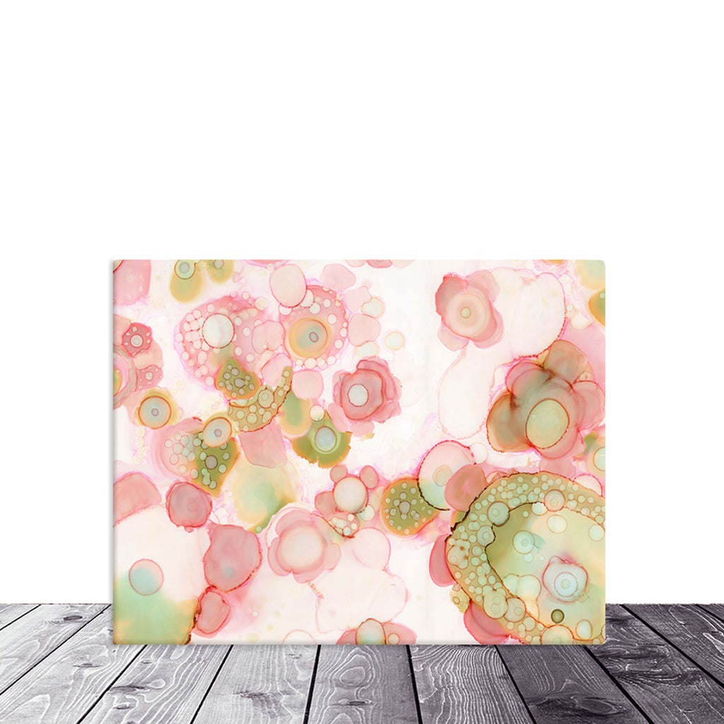 Art Print on Canvas 'Organic in Pink'