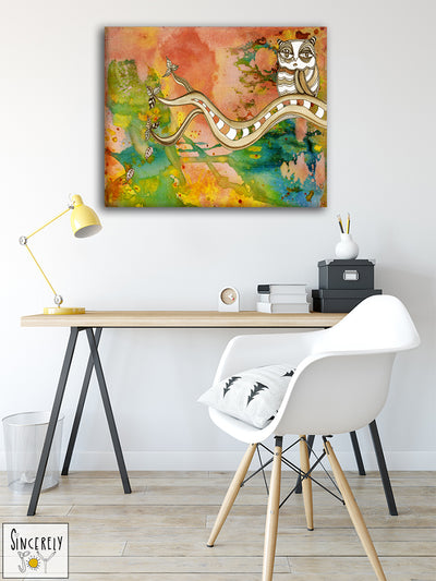 Art Print on Canvas 'Surreal Owl 02'