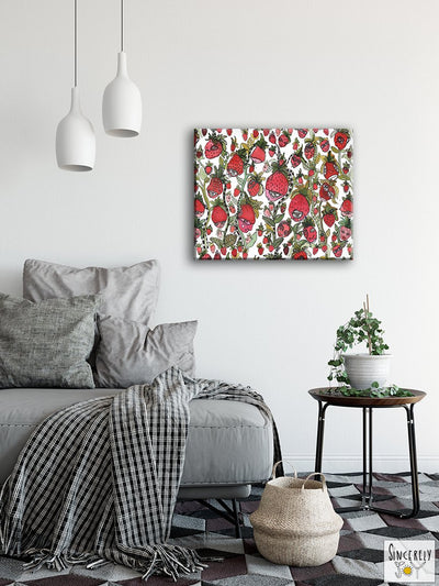 Art Print on Canvas 'Strawberry Friends'