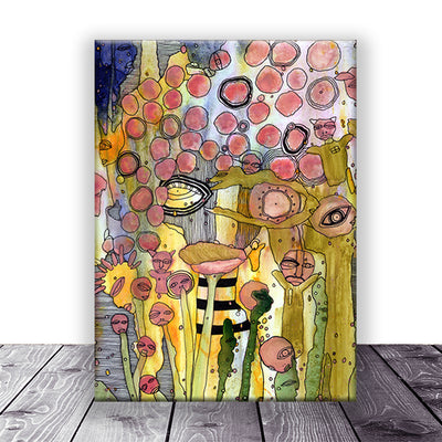Art Print on Canvas 'Bugged Out'