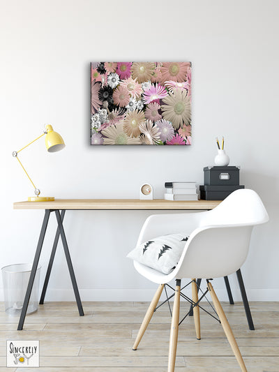 Art Print on Canvas 'C Floral 02'