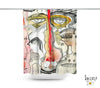 Abstract Mixed Media Shower Curtain 'Complicated'
