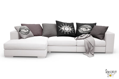 'EYE SEE YOU 01' REVERSIBLE Suede Pillow (2 PILLOWS IN ONE!)