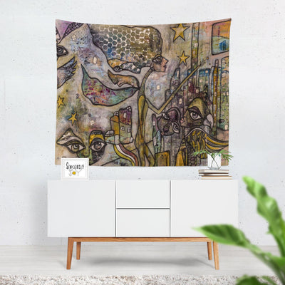 Wall Art Tapestry 'City Creatures'