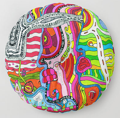 'MULTI' Colorful Psychedelic Floor / Meditation Cushion