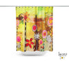 Abstract Mixed Media Shower Curtain 'Garden Party'