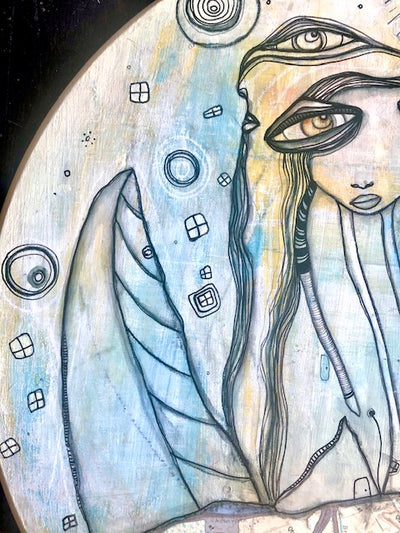 Original Fine Art 'Our Moon'