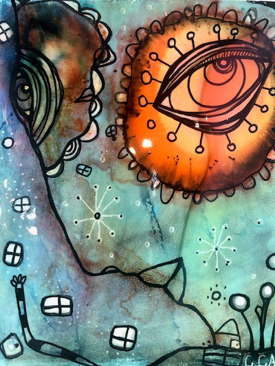 Original Fine Art 'Sun in my eye'