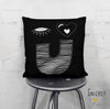 'EYE LOVE YOU 02' Throw Pillow