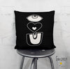 'EYE LOVE YOU' Throw Pillow Black