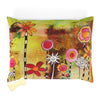 Fleece top WASHABLE Pet Bed for your dog or cat with colorful 'Garden Party' Artwork