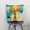 Art Throw Pillow 'Separation Anxiety'
