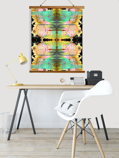 "Whimsical Wood Slat Tapestry ""Over The Rainbow pattern 2"""