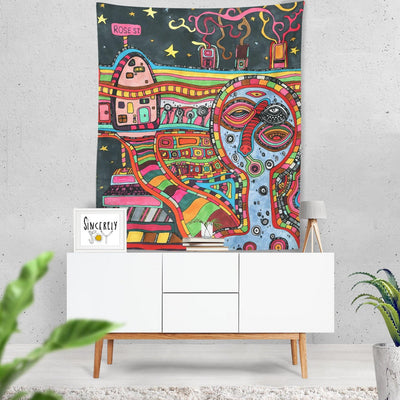Wall Art Tapestry 'Rose St'