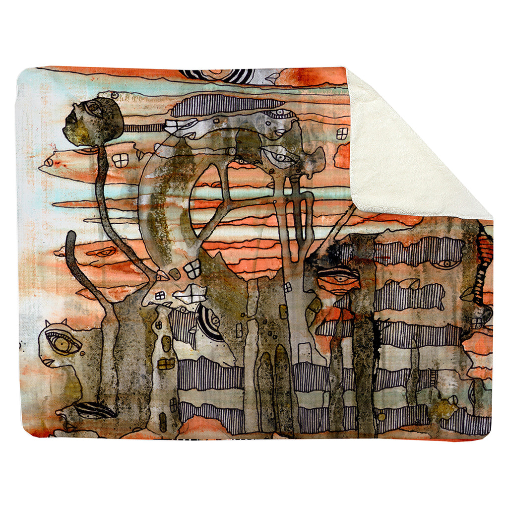 Thick Sherpa Fleece Blanket 'Flying By'