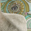 Thick Sherpa Fleece Blanket 'Honeydew Ocean'