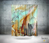 Abstract Mixed Media Shower Curtain 'From the Heavens'