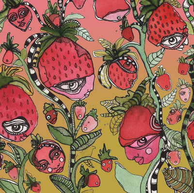 Tote Bag 'Strawberry Friends Green'