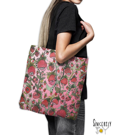 Tote Bag 'Strawberry friends pink'