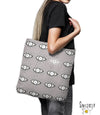 Tote Bag 'EYES SEE YOU in grey'