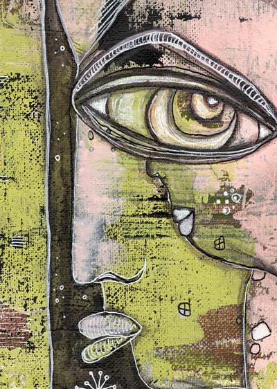 Original Mixed Media Fine Art on Canvas 'What We See'
